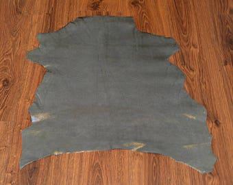 Gray lambskin leather with velvet finish (9256197)