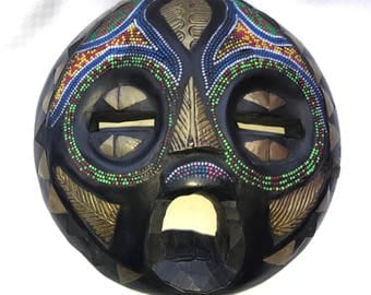 African Looking Mask with Colorful Beads
