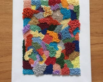 Multi-colored Punch Needle Art