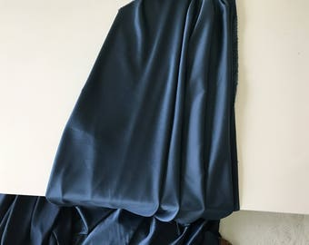 Satin Midnight Blue polyester 130 cm wide