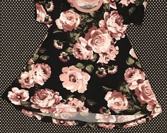 floral dress pants bummies boho black pink baby toddler girl shorts 0-3 3 6 9 12 18 months 2 3 4 5