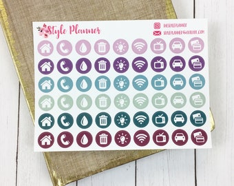 Icons Utilities | Mauves | Planner Stickers