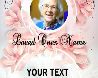 Pink Rose/ Funeral Program MICROSOFT WORD Template 10 pages 8.5x11 Folded