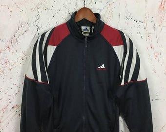 Sale 25% Vintage 90s Adidas Retro Trainer Zipped Jacket Hip Hop Swag Size L
