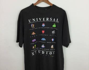 Vintage 90s Universal Studios Expression T Shirt Size L