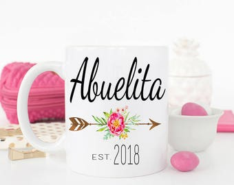Abuelita Mug, New Abuelita cup, Pregnancy Reveal to Abuelita, Gift for Abuelita, Baby Announcement, Spanish Mug for Abuelita, Mothers Day