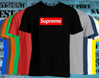 Red Supreme Box Logo Supreme T-shirt Supreme Shirt Trending best price fast shipping