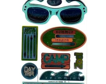 Vacation 18 x 10 cm Sticko EK Success scrapbooking cardmaking 3D stickers