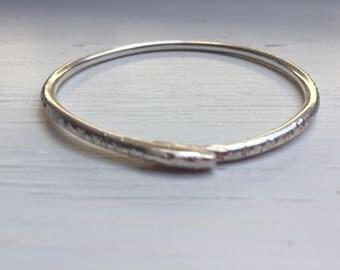 925 Silver Chunky Bangle