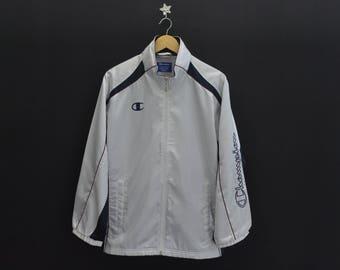 CHAMPION Vintage CHAMPION Sleeve Spell Out Zipper Hoodies Sweater Jacket Size Jaspo M