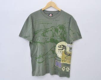 Jurassic Park III Shirt Jurassic Park Raptor Print All Over Shirt Size  Youth XL