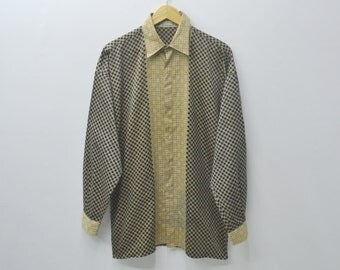 Gianni Versace Shirt Vintage 90s Gianni Versace Button Down Shirt Versace Vintage Gianni Versace Made in italy Size 46