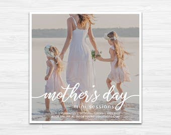 Mother's Day Mini Session Template | Photography Marketing