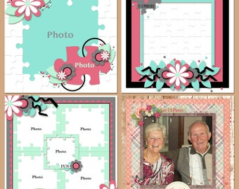 Luv U 2 Pieces Digital Scrapbooking Templates