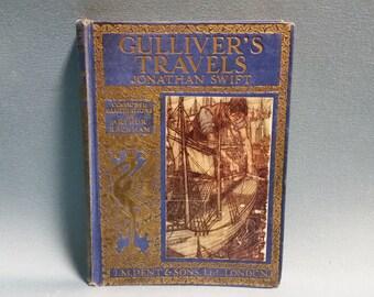 RARE Gulliver's Travels by Jonathan Swift, Coloured Illustartions by Arthur Rackham