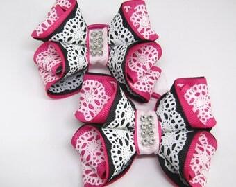 Kanzashi Butterflies - handmade - hair accessory - on the elastic band - best choice christmas gift