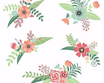 Country flowers clipart-scrapbooking