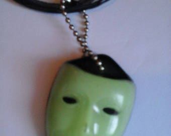 Oddity Necklace, Mask Glow-in-the-dark, Four Strands