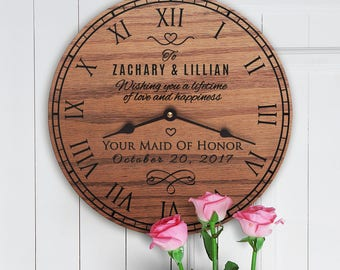 Personalized Wedding Gift From Maid of Honor - Maid of Honor Gift to Bride and Groom - Custom Message - From Maid of Honor Wedding Message
