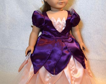 18 Inch Doll Clothes - Purple and Pink Princess Dress