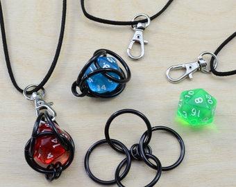 Pendentif donjons et dragons VERT D20 - s'ouvre pour jouer avec le dé ou l'échanger - jeux de rôle geek grandeur nature dé polyèdre jeu RPG
