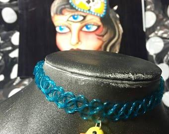 Blue Rubber Ducky Tattoo Choker