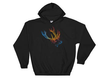 Colorful Deer Hooded Sweatshirt Hoodie
