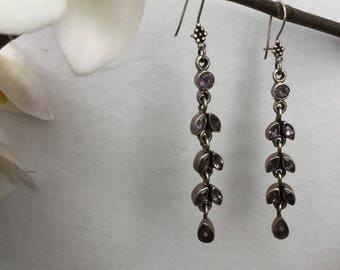 amethyst earrings,sterling silver amethyst earrings