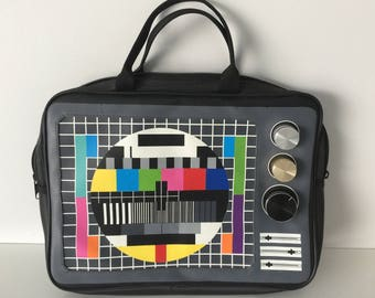 Vintage New vinyl bag 1980's. 80's , Art deco