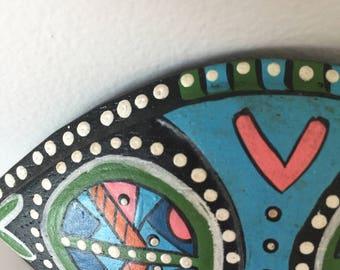 vintage aboriginal handmade hair clip 1980 , 80's