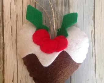 Christmas pudding felt decoration/ornament-Christmas pudding decoration