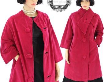 1950 Marguerite Rubel Velvet Swing Coat