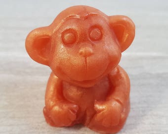 Monkey Party Favors, Jungle Theme Soap, Kids Gift, Baby Animal, Safari, Chimpanzee, Ape, Gorilla, Zoo, Decorative Glycerin Soap (2 oz ea)