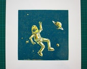 Linogravure - Lost in space