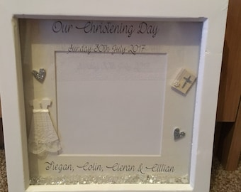 Christening Frame Personalised for boy or girl