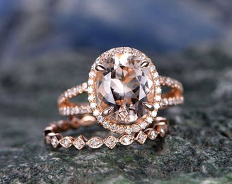 ONLY the diamond wedding band-handmade 14k Rose gold ring-Real Diamond Stacking band-Full eternity antique art deco ring