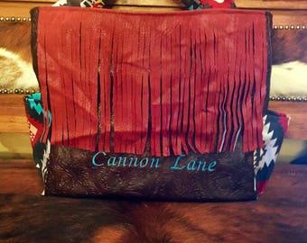 Custom southwestern tribal diaper bag