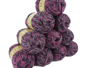 10 x 50 g (= 500 g) MILLY wool 50 g #114 diva, to knitting felting 100% pure new wool