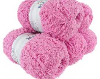 5 x 100 g soft Knitting yarn MARION with shimmering highlights, #107 rose