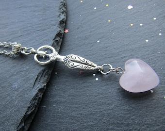Fertility Goddess Necklace with Rose Quartz Heart, Heart Necklace, Rose Quartz Necklace, Fertility Necklace, Fertility Goddess, Rose Quartz
