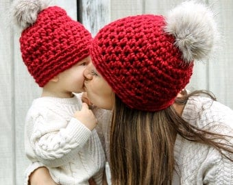Mommy & Me Slightly Slouchy Winter Hats