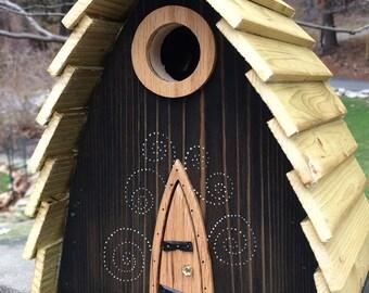 "ArtisTree ""Keebler Cabin"" Bird House"