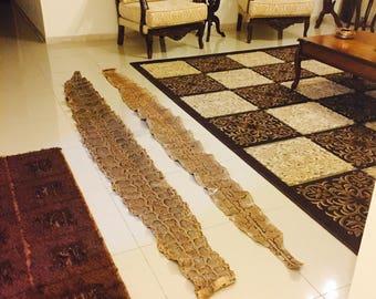 Snake Genuine Leather Skin,Brown Color, Huge Snake Real Leather, Africa Desert, Python .