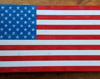 Wooden American Flag Wall Art pallet flags | etsy