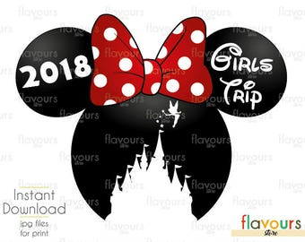 Minnie Castle Girls Trip - INSTANT DOWNLOAD - Disney Cruise - Family Vacation - JPG Files