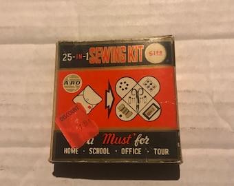Vintage 25 in 1 sewing kit