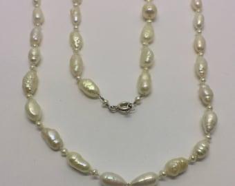 Germau sterling silver cultured pearl necklace #101