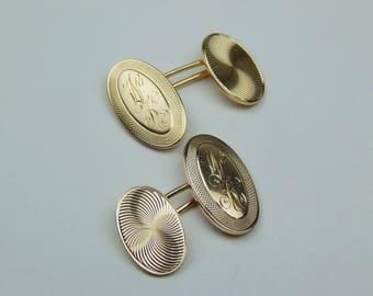 Art Deco 14k  gold cufflinks set #10610