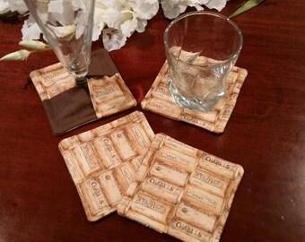 Fabric Coasters, Cork Coasters, Stemware Coasters, Wine Glass Coasters, Criss Cross Coasters, Slipper Coasters, Stem Glass Coasters