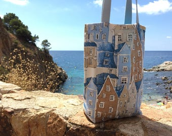 Bag, Tote, tote bag Tote in blue cotton